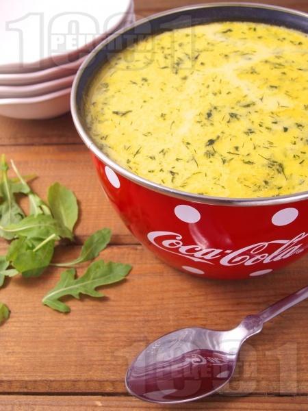Свежа супа от филе от сьомга, картофи, сметана и копър - снимка на рецептата